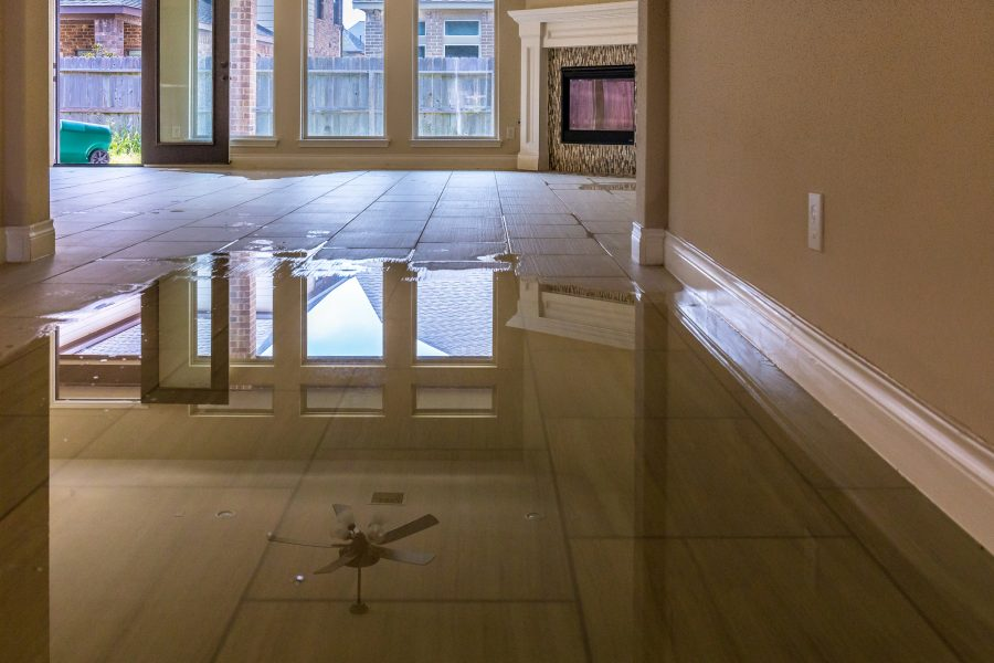 puddle of water on floor